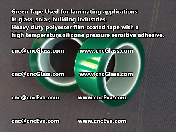 Green Tape is designed for laminating applications in glass laminate, solar encapsulation, automotive, aerospace, and electrical Mechanical industries (5)