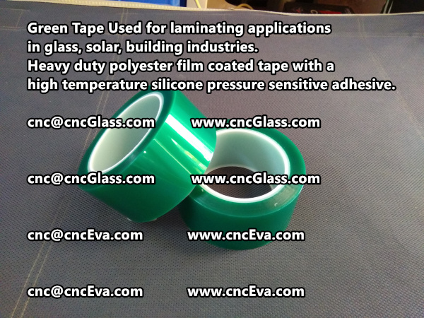 Green tape is made of Heavy duty polyester film coated tape with a high temperature silicone pressure sensitive adhesive (6)